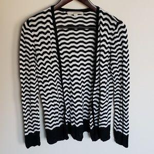 LOFT black and white chevron cardigan